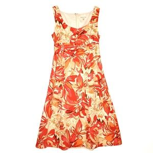 Coldwater Creek Fit & Flare Pink & Orange Dress P6